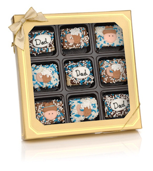 Father's Day Chocolate Dipped Krispie Gift Box imagerjs