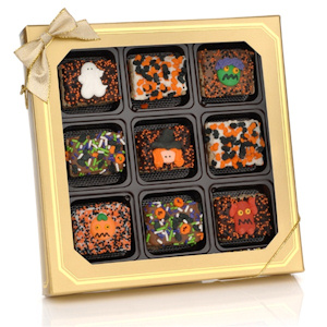 Halloween Fun Chocolate Dipped Krispie Gift Box imagerjs