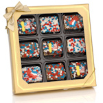 Patriotic Chocolate Dipped Mini Krispies Gift Box