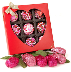 Rose Krispies and Chocolate Oreo Valentine Gift imagerjs