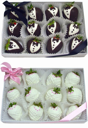 Chocolate Covered Wedding Strawberries data-pin-no-hover=