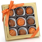 Tiger Stripes Belgian Truffle Cake Bons - Box of 9