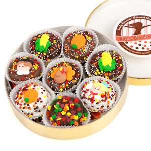 Thanksgiving Chocolate Dipped Oreo Wheel imagerjs