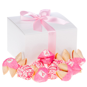 Pink Ribbon Fortune Cookie Gift Box imagerjs
