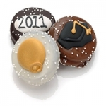 Graduation Themed Chocolate Covered Oreos