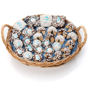 Winter Wonderland Chocolate Dessert Basket imagerjs