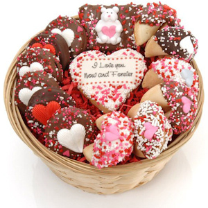 Sweet Heart Cookie Gift Basket imagerjs