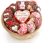 Sweet Heart Cookie Gift Basket
