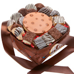 Classic Chocolate Dipped 18 Piece Dessert Basket
