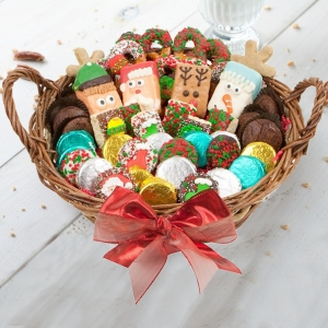 Deluxe Christmas Cookie Basket imagerjs
