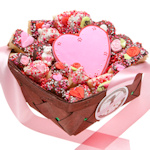 Romantic Cookie 18 Piece Basket