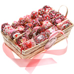30 Piece Valentine Cookie Basket