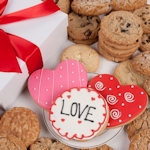 Loving Hearts Gourmet Cookie Box