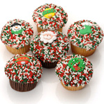 Belgian Chocolate Christmas Cupcakes (6 Pack)