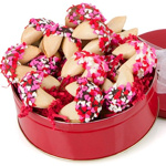 Romantic Hearts Valentine Fortune Cookie Tin