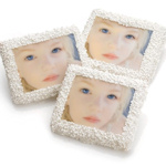 Half Graham Chocolate Dipped Photo Favors