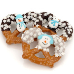 Winter Theme Chocolate & Caramel Pretzel Favors