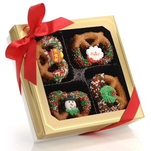 Christmas Gourmet Dipped Pretzel Twists - Box of 12 imagerjs