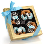 Winter Gourmet Chocolate Pretzel Twists - Box of 12