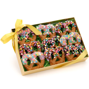 Chocolate Confetti Pretzel Twists Box of 9 imagerjs