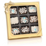 Chocolate Dipped Winter Mini Krispies Box
