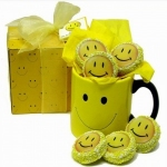 Smiley Mug & Chocolate Covered Oreo Cookie Gift