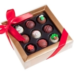 Holiday Cheer Belgian Truffle Cake Bons
