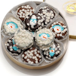 Winter Snow Wheel of Chocolate Dipped Oreo Cookies