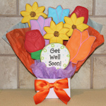Get Well Soon Gourmet Flower Cookie Bouquet