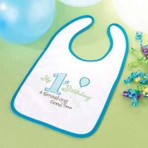 First Blue Birthday Bib imagerjs