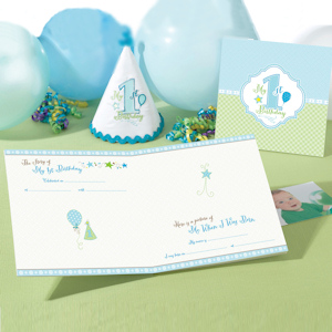 First Birthday Blue Keepsake Board Book imagerjs