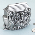 Noah Ark Pewter Bank