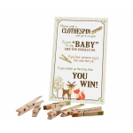 Woodland Clothespin Baby Shower Game