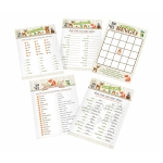 Woodland Baby Shower Game Cards
