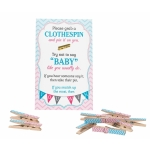 Gender Reveal Clothespin Game