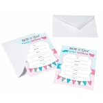 Gender Reveal Invitations - Set of 8
