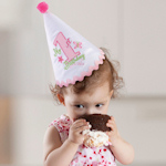 First Birthday Pink Party Hat