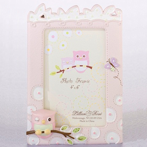 Pink Owl 4x 6 Baby Photo Frame imagerjs