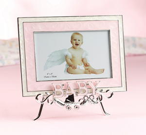 Pink Baby Frame with Stand imagerjs