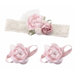 Baby Headband & Barefoot Sandals - Pink