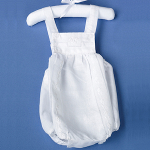 White Baby Romper (0-6 Months) imagerjs