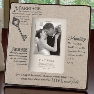 Christian Wedding 4 x 6 Photo Frame imagerjs
