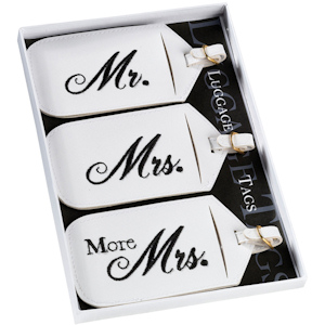 Mr. Mrs. and More Mrs. Luggage Tags Set imagerjs