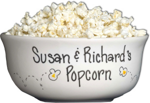 Personalized Ceramic Popcorn Bowl imagerjs