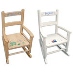 Personalized Kids Slat Back Rocking Chair
