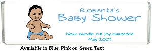 African American Baby Shower Chocolate Bar data-pin-no-hover=