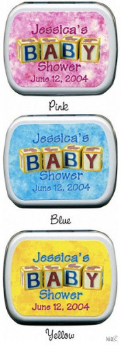 Filled BABY Blocks Personalized Shower Mint Tins imagerjs