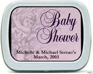 Filled Cherub Baby Shower Tin image