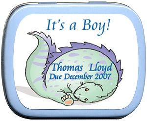 Filled It's A Boy Dinosaur Mint Tin Favors imagerjs