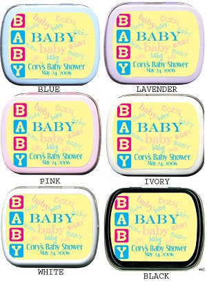 Filled All About Baby - Baby Shower Tins imagerjs